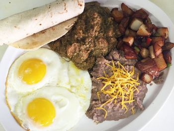 Emerald Bay Bar & Grill, Chili Verde Weekend Breakfast